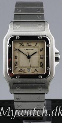 Solgt - Cartier Santos stål, quartz-0