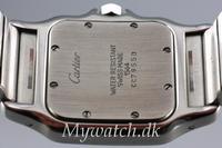 Solgt - Cartier Santos stål, quartz-24595