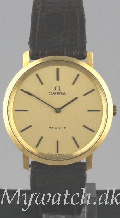 Solgt - Omega DeVille 14 ct. guld-0
