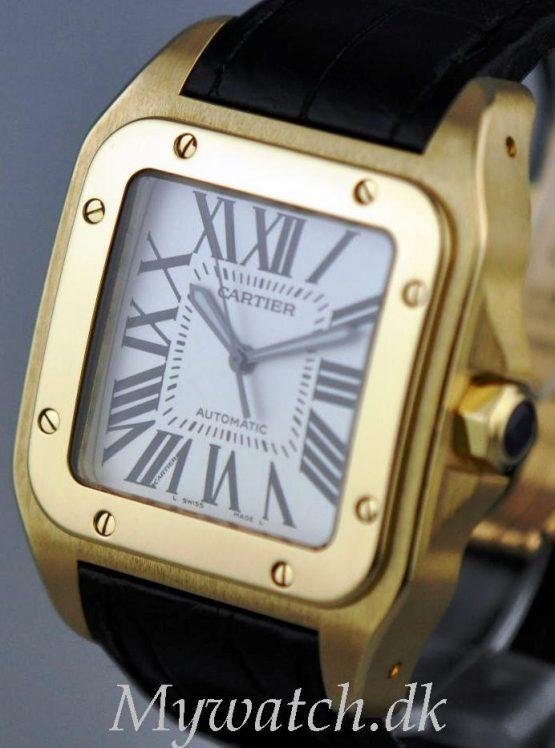 Solgt - Cartier Santos 100 XL 18 ct. guld - 2010-22314