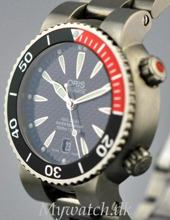 Solgt - Oris Dykkerur Titanium 1000 mtr.- 6/2008-21597