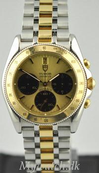Solgt - Tudor Monarch guld / stål - 1996-0