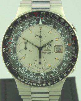 Solgt - Tag Heuer Pilot quartz Chronograph-0