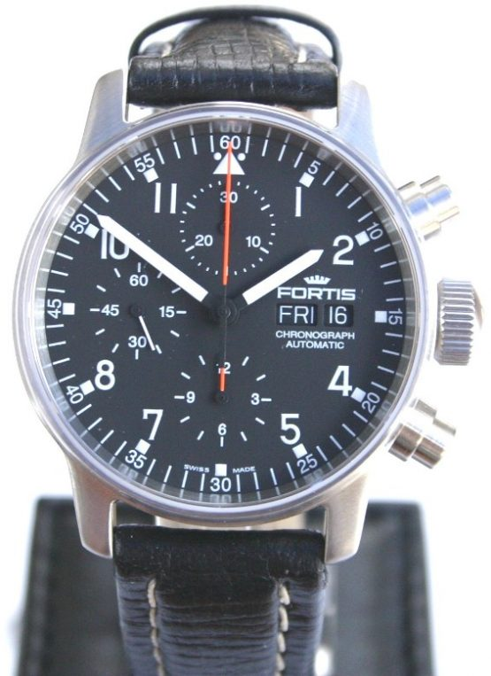Solgt - Fortis Flieger Chronograph-0