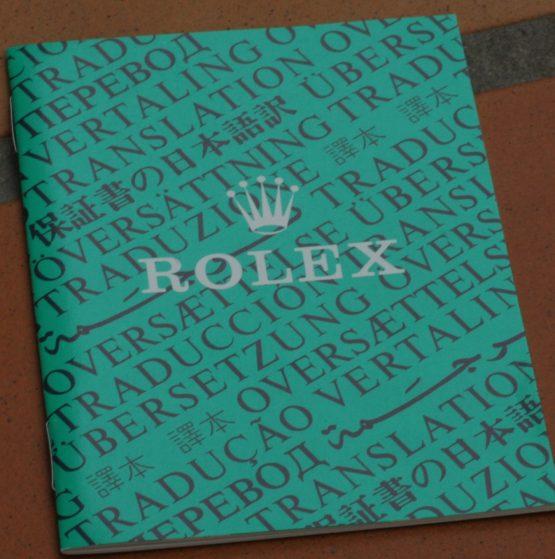 Rolex booklet: Translation-0